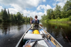 Canoe on the Flambeau River