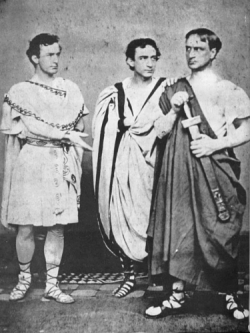 John Wilkes Booth, Edwin Booth and Junius Brutus Booth, Jr.