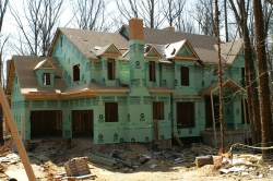 new construction with house wrap
