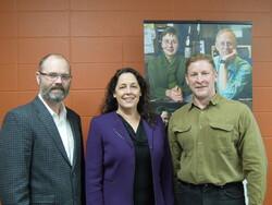 Dr. Chris Eberlein, State Rep. Jill Billings, Al Bliss