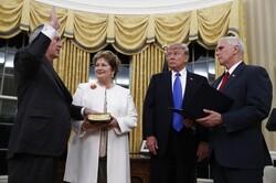 Tillerson being sworn in