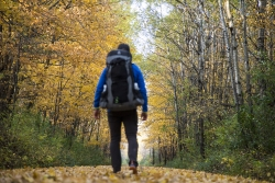 Eric Larsen hiking the Ice Age Trail