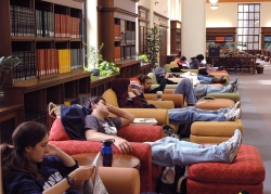 college students sleeping