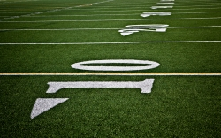 Football field, field lines, high school football