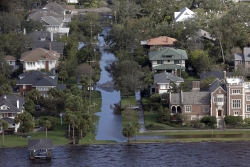 Flooded streets in Florida