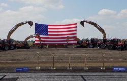 State for the ceremonial groundbreaking of the Foxconn campus in the Village of Mount Pleasant.