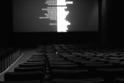 Inside of a movie theater