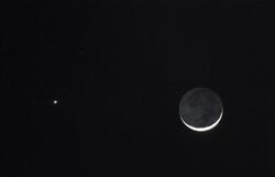 Venus, Mars and the moon