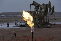 Oil pump and natural gas