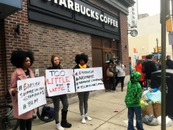 Starbucks protesters