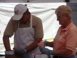 Ice cream served at Warrens Cranberry Festival