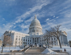 Wisconsin Capitol In Winter