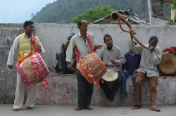India, drums, drummers, musicians, South Asia, Himalayan