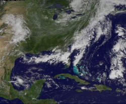 Weather patterns over US