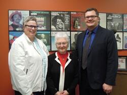 Kim Cable, Sister Karen Neuser and Mayor Tim Kabat