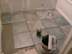 tiling a shower floor
