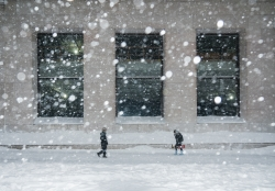 Wall Street in snow storm