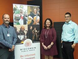 Dr. Chris Eberlein, Victoria Brahm and Adam Flood