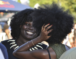 Black women with natural hair
