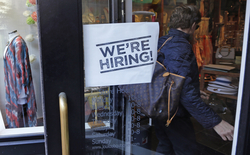 We're hiring sign