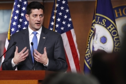 House Speaker Paul Ryan of Wis., announces that he will not run for re-election