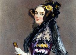 Watercolor portrait of Ada King, Countess of Lovelace (Ada Lovelace)