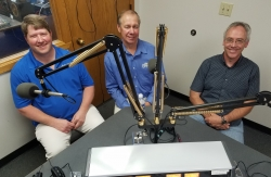 Darrin Von Rubin, Jim Holte and Jerry Clarke in the studio