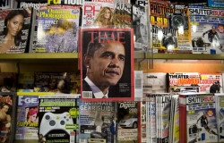 President-elect Barack Obama is featured in a special issue of Time Magazine on a New York newsstand Wednesday, Nov. 19, 2008.