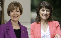 Tammy Baldwin and Leah Vukmir.