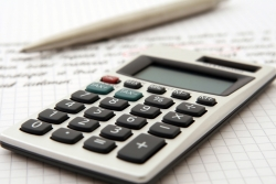 calculator and financial section