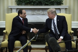 Egyptian President Abdel Fattah al-Sisi and President Donald Trump