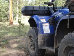 The back of an ATV