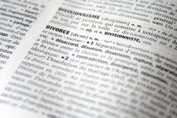 dictionary open to divorce