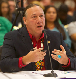 Mic Isham, Chair of the Lac Courte Oreilles Band of Lake Superior Chippewa Indians.