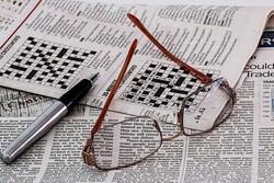 Reading glasses on crossword puzzel