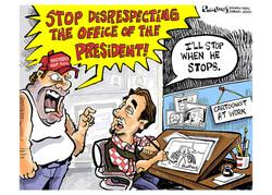 A political cartoon by Phil Hands