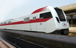 mock-up of the Talgo train