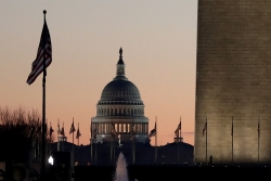 The U.S. Capitol Building at sunrise