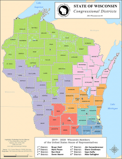 Map showing Wisconsin's congressional districts (large)