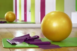 exercise ball and band