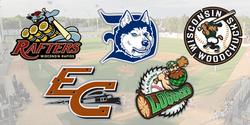 Wisconsin's Northwoods League Baseball Team logos