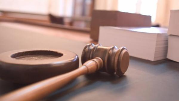 Gavel and books on a desk
