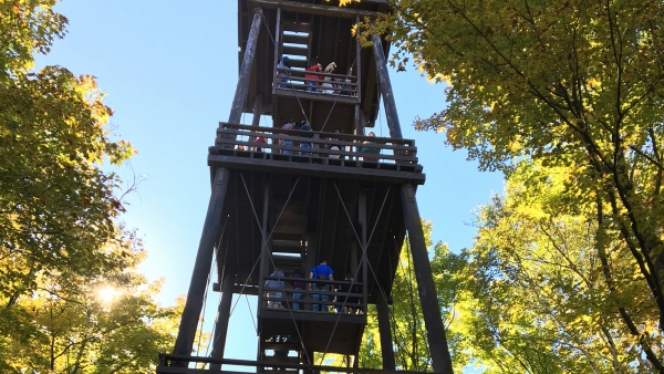 The Potawatomi State Park observation tower