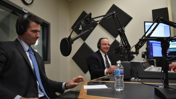 Jason Church and Tom Tiffany at WPR debate