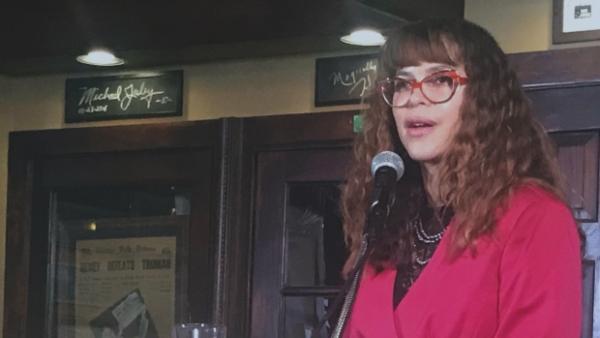 Milwaukee Health Commissioner Jeanette Kowalik speaks at the Milwaukee Press Club