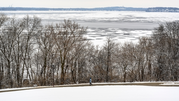 Lake Mendota with ice and open water