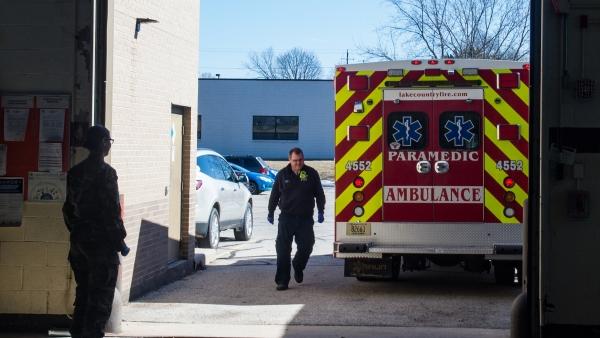 Lake Country Fire Department ambulance, rural ems, coronavirus, pandemic