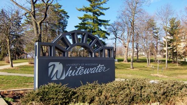 UW Whitewater campus sign