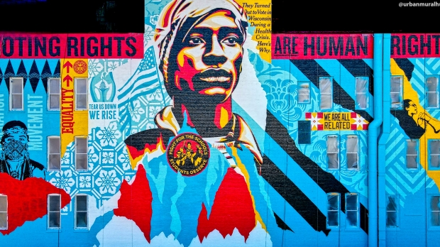 Voting Rights Mural by Shepard Fairey