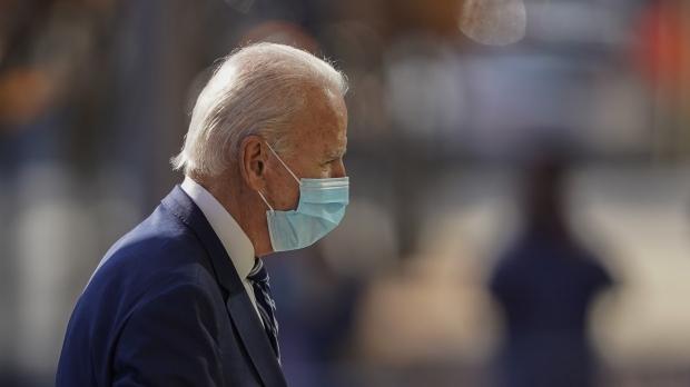 President-elect Joe Biden wears a mask